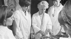 "Henrietta Jane Alderson, Faculty Member, School of Nursing, 1947-1975. 'Miss Alderson' or 'Henry"" taught anatomy and basic science."