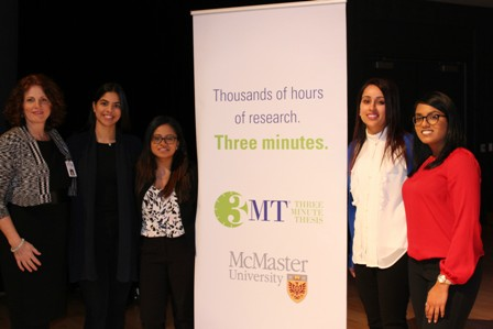 Dr. Carter and students at 3MT