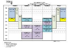 Level 1 Basic Stream (A) Timetable