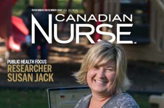 Susan Jack on cover of Canadian Nurse